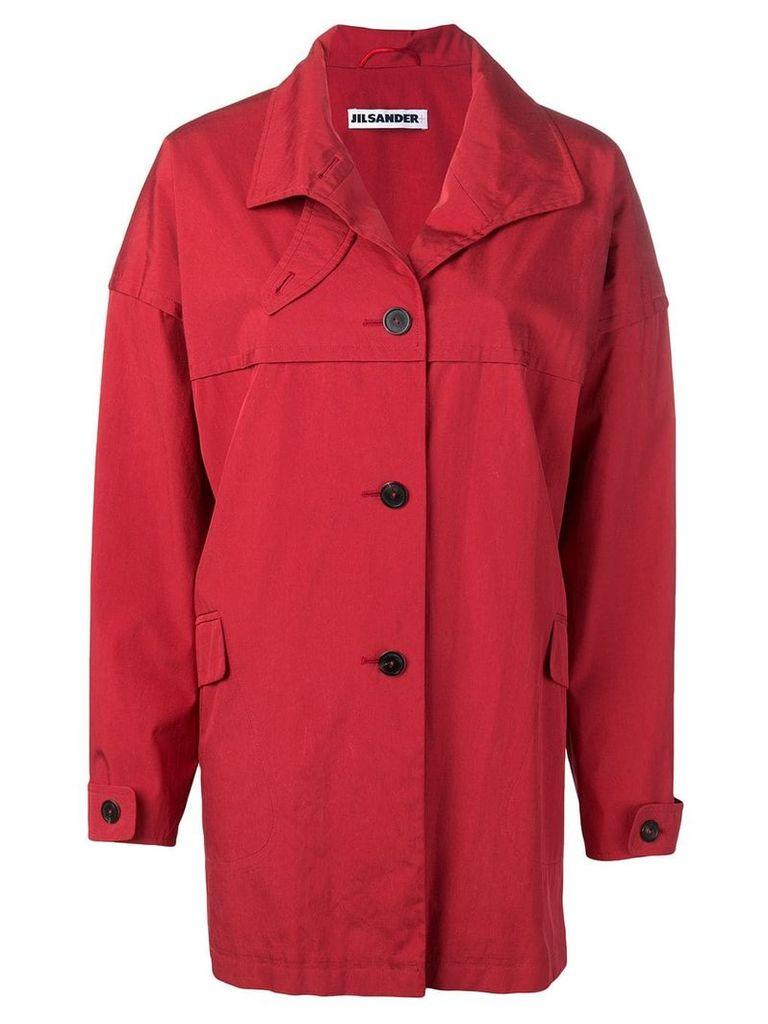 Jil Sander Vintage 1990's loose coat - Red