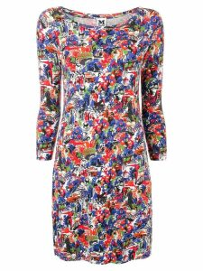 Missoni Pre-Owned 1990's abstract print fitted dress - Blue