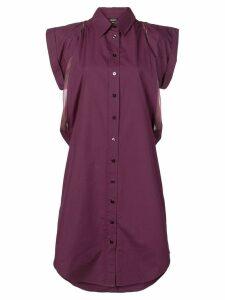 Jean Paul Gaultier Pre-Owned 1990's shirt dress - Purple