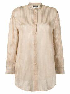 Giorgio Armani Pre-Owned 1980's semi-sheer striped shirt - Neutrals