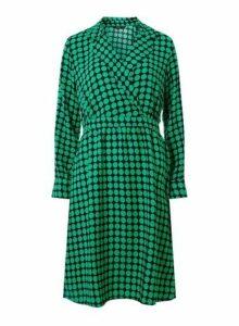 Womens **Vero Moda Sarah Dot Print Wrap Dress- Blue, Blue
