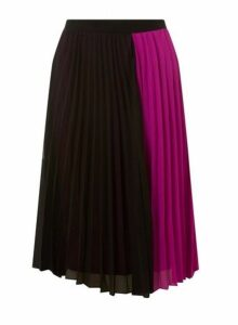 Womens **Vero Moda Multi Coloured Sol Calf Skirt- Pink, Pink