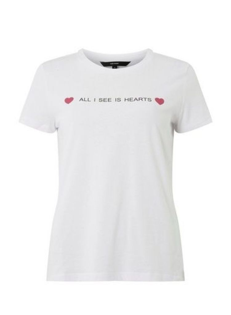 Womens **Vero Moda White 'All I See Hears' Slogan T-Shirt- White, White
