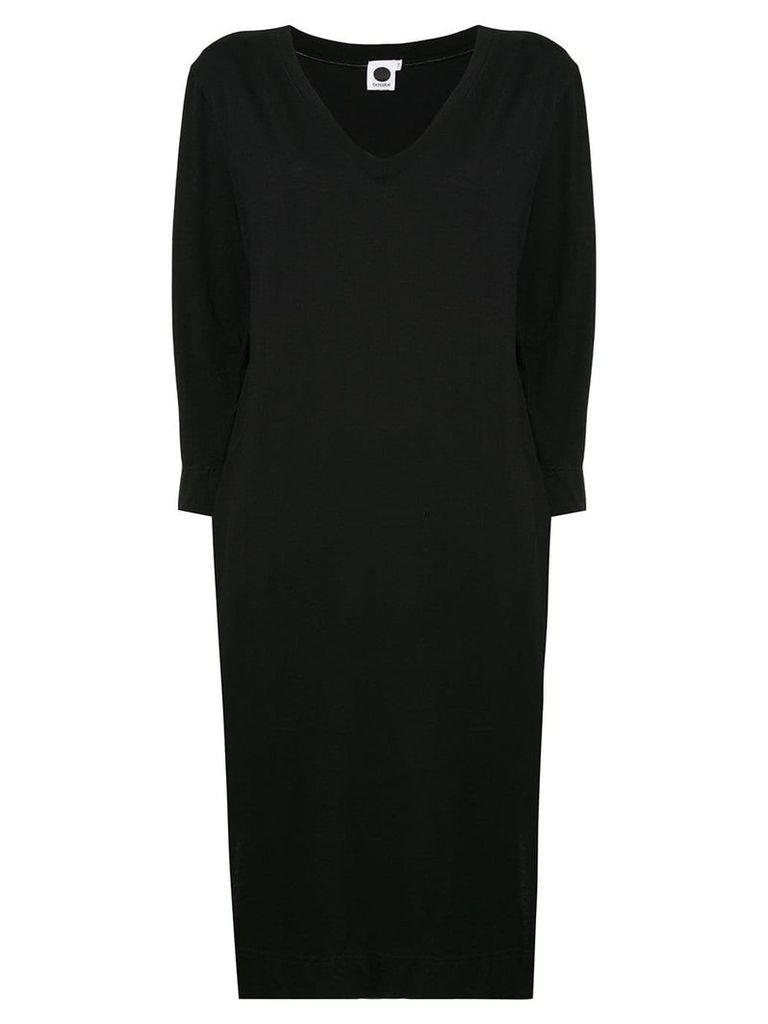 Bassike 3/4 sleeves T-shirt dress - Black