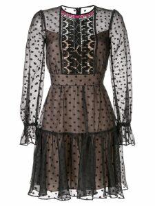 Temperley London polka dot short dress - Black