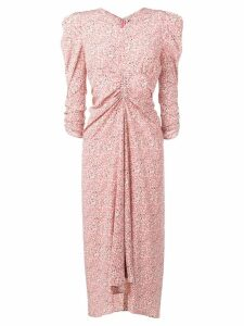 Isabel Marant ruched embroidered dress - Pink