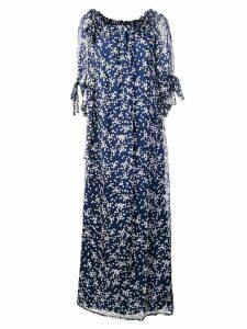 P.A.R.O.S.H. star print maxi dress - Blue