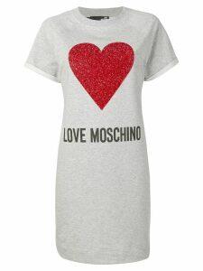 Love Moschino printed T-shirt dress - Grey