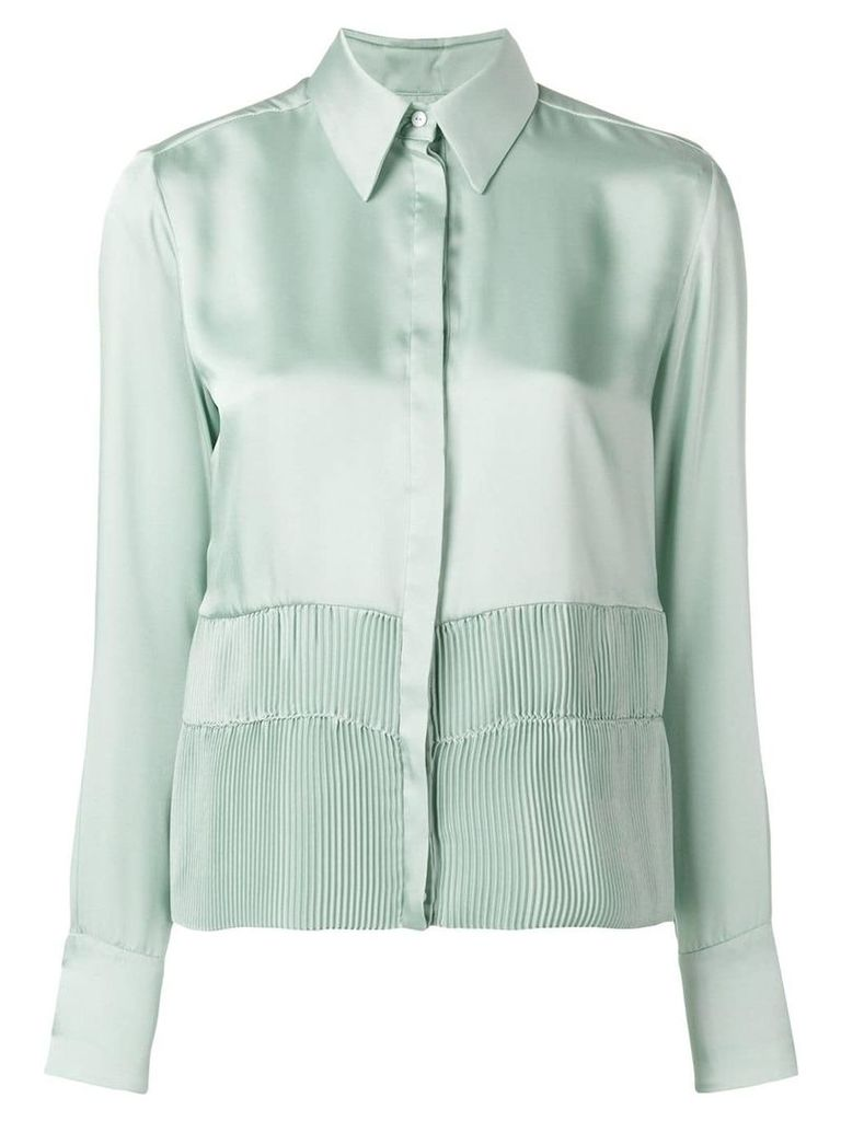 Victoria Victoria Beckham pleated detail shirt - Green