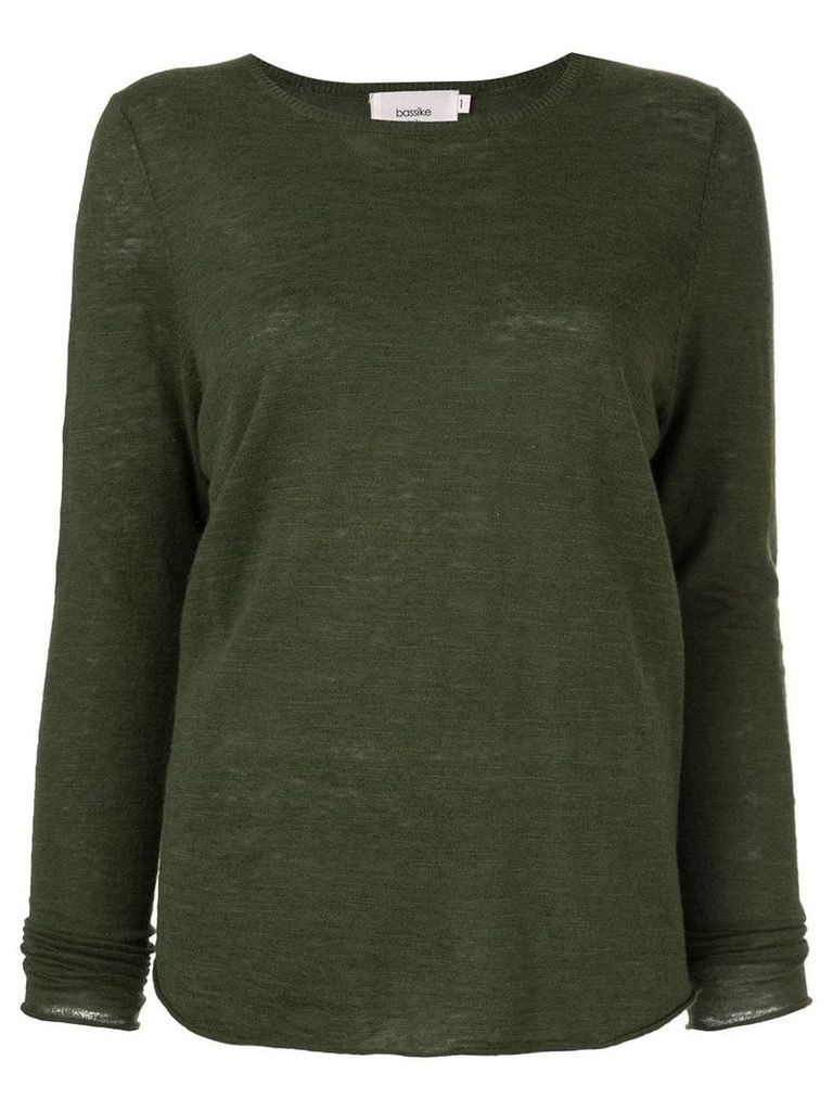 Bassike open back pullover - Green