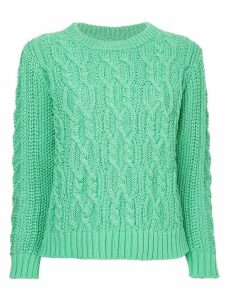 COOHEM cable knit jumper - Green