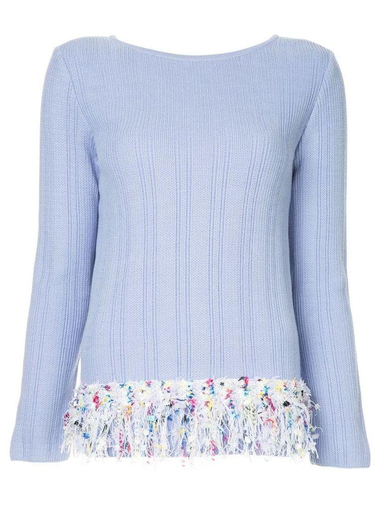 COOHEM tweed trim jumper - Purple
