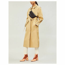 Celeste double-breasted cotton trench coat
