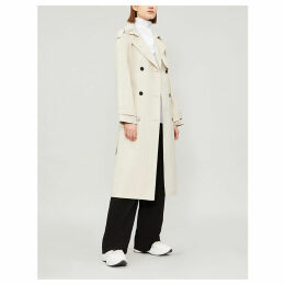 Theory Women's Bone White Double-Breasted Cotton-Blend Coat