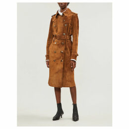 Haddington suede trench coat