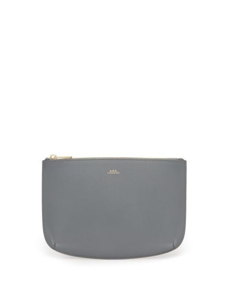 A.p.c. - Sarah Smooth Leather Pouch - Womens - Blue