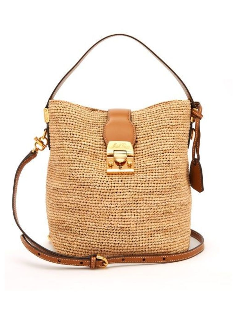 Mark Cross - Murphy Raffia Bucket Bag - Womens - Tan Multi