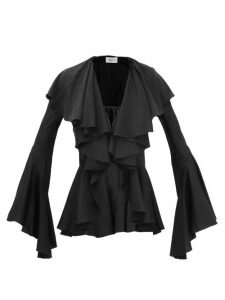 Antonello Tedde - Pompom Woven Shoulder Bag - Womens - Navy White