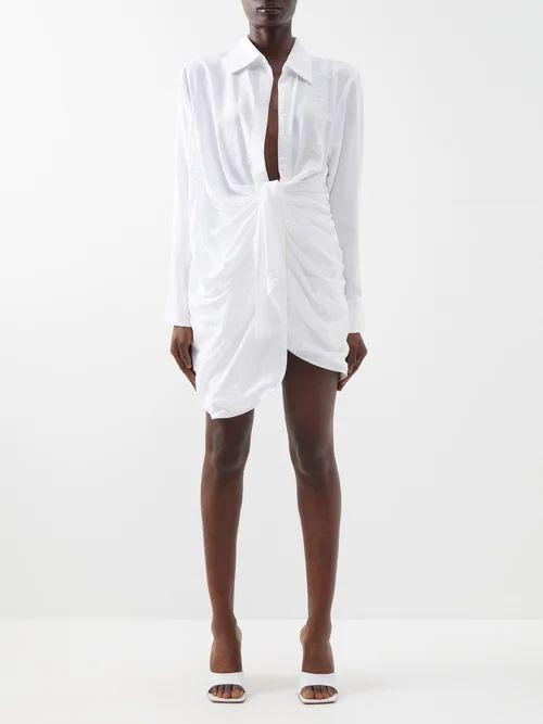 Miu Miu - Matelassé Quilted Velvet Belt Bag - Womens - Red