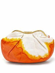Kilometre Paris - X Isla Fontaine Sandolo Indonesia Clutch - Womens - Orange Multi