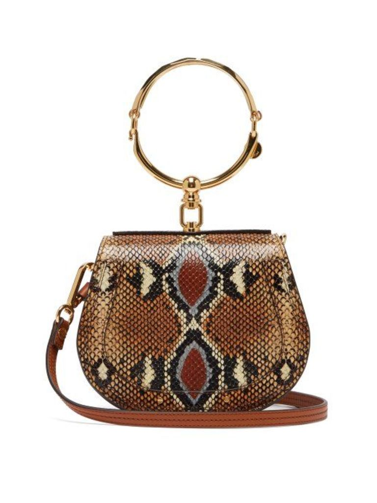 Chloé - Nile Small Python Effect Leather Cross Body Bag - Womens - Multi