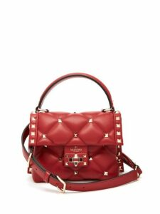 Valentino - Candystud Mini Quilted Leather Cross Body Bag - Womens - Red