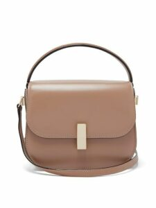 Valextra - Iside Grained Leather Cross Body Bag - Womens - Beige