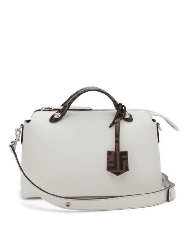 Fendi - By The Way Leather Shoulder Bag - Womens - White Multi