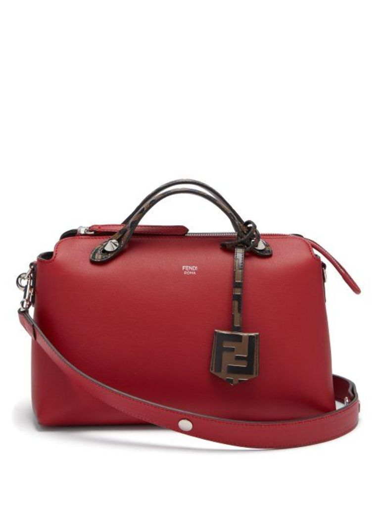 Fendi - By The Way Leather Shoulder Bag - Womens - Red Multi