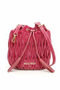 Miu Miu Velvet Matelassé Bucket Bag