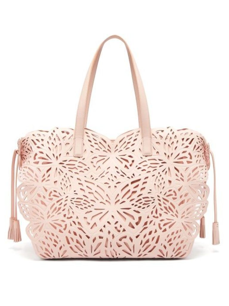 Sophia Webster - Liara Butterfly Leather Tote - Womens - Light Pink