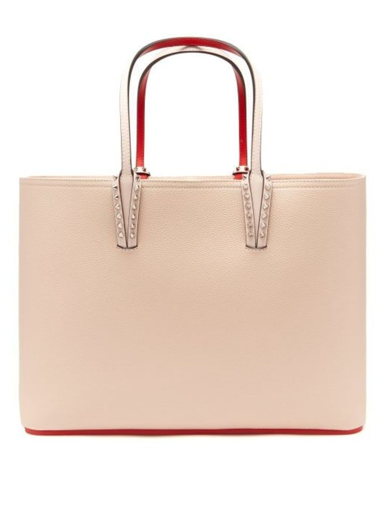 Christian Louboutin - Cabata Grained Leather Tote - Womens - Light Pink