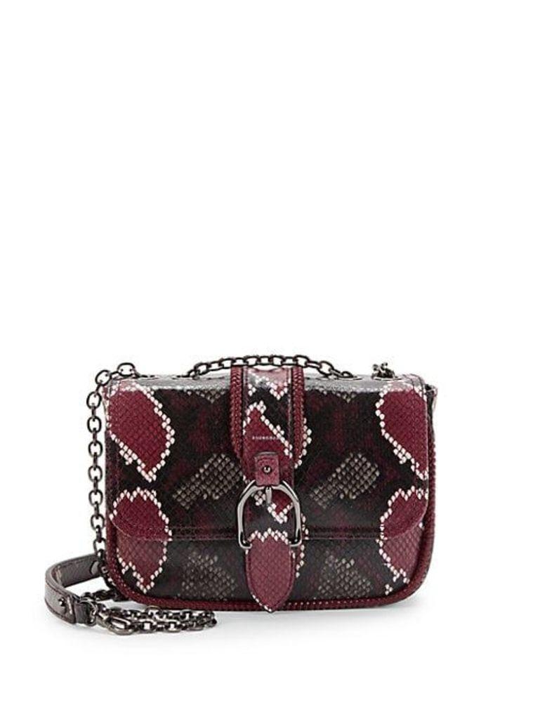 Mini Patterned Leather Crossbody Bag
