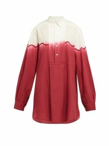 Kilometre Paris - Dip Dyed Cotton Shirt - Womens - Red