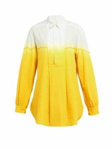 Kilometre Paris - Dip Dyed Cotton Shirt - Womens - Yellow