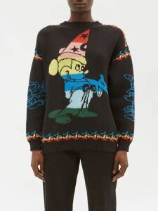 D'ascoli - Abstract Tie Dye Effect Cotton Shirt - Womens - Blue White