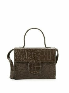 Classic Embossed Leather Crossbody Bag