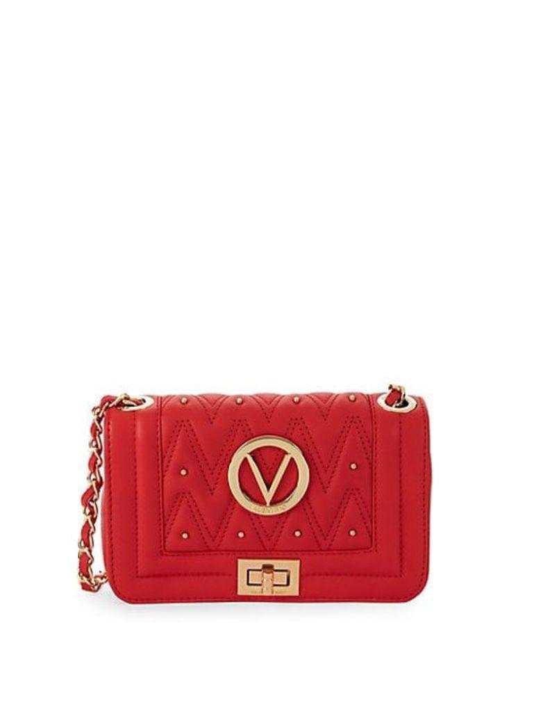 Beatriz Chevron Leather Crossbody Bag