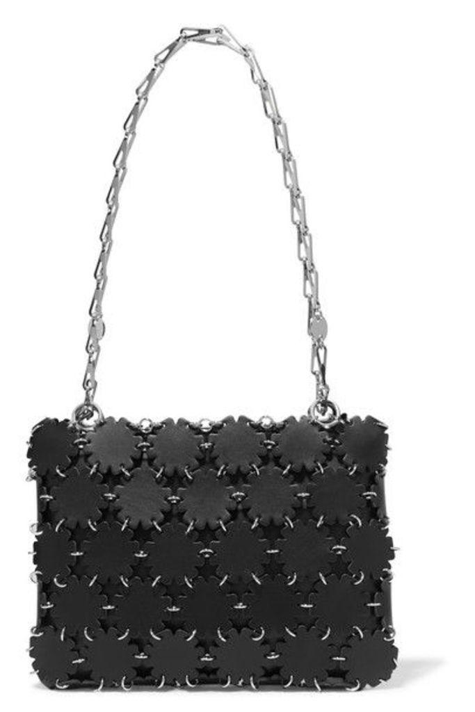 Paco Rabanne - Blossom 1969 Laser-cut Leather And Canvas Shoulder Bag - Black