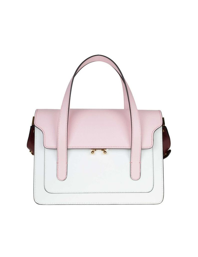 Marni Handbag Trunk Leather With Calf Leather Shoulder