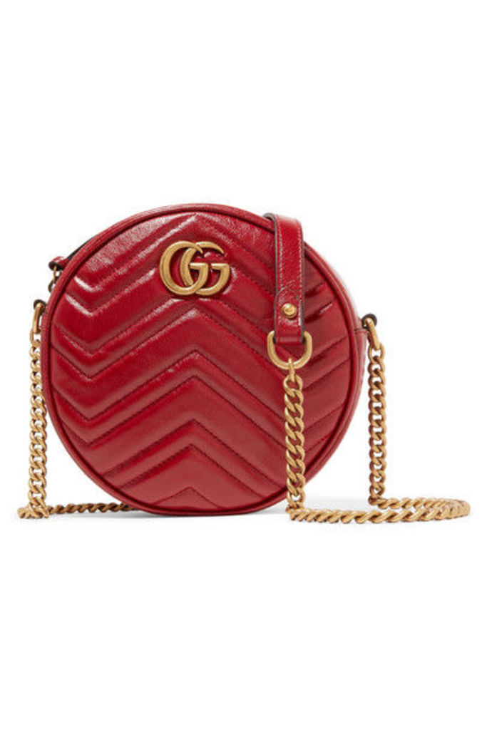 Gucci - Gg Marmont Circle Quilted Leather Shoulder Bag - Red