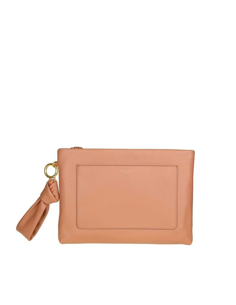 Tory Burch Beau Pouch In Skin Color Sunset