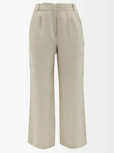 Zeus + Dione - Callas Panelled Silk Maxi Dress - Womens - White Black