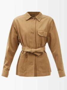 Mes Demoiselles - Semsema Crinkled Silk Maxi Dress - Womens - Burgundy