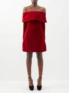 Rhode - Eva Off The Shoulder Smocked Cotton Dress - Womens - Pink