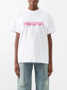 Love Binetti - Halterneck Cotton Maxi Dress - Womens - Black Multi