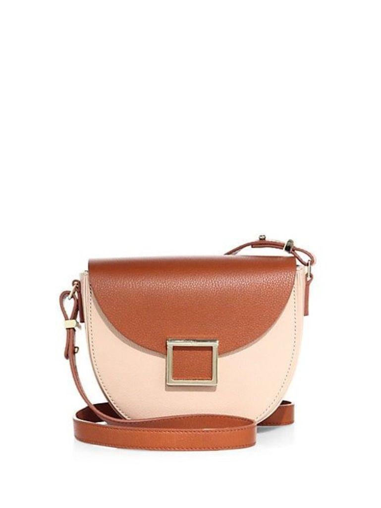Mini Jaime Colorblock Leather Saddle Bag