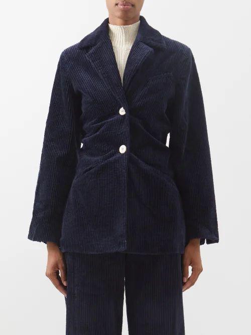 Rhode - Sienna Fishtail Cotton Midi Skirt - Womens - Cream