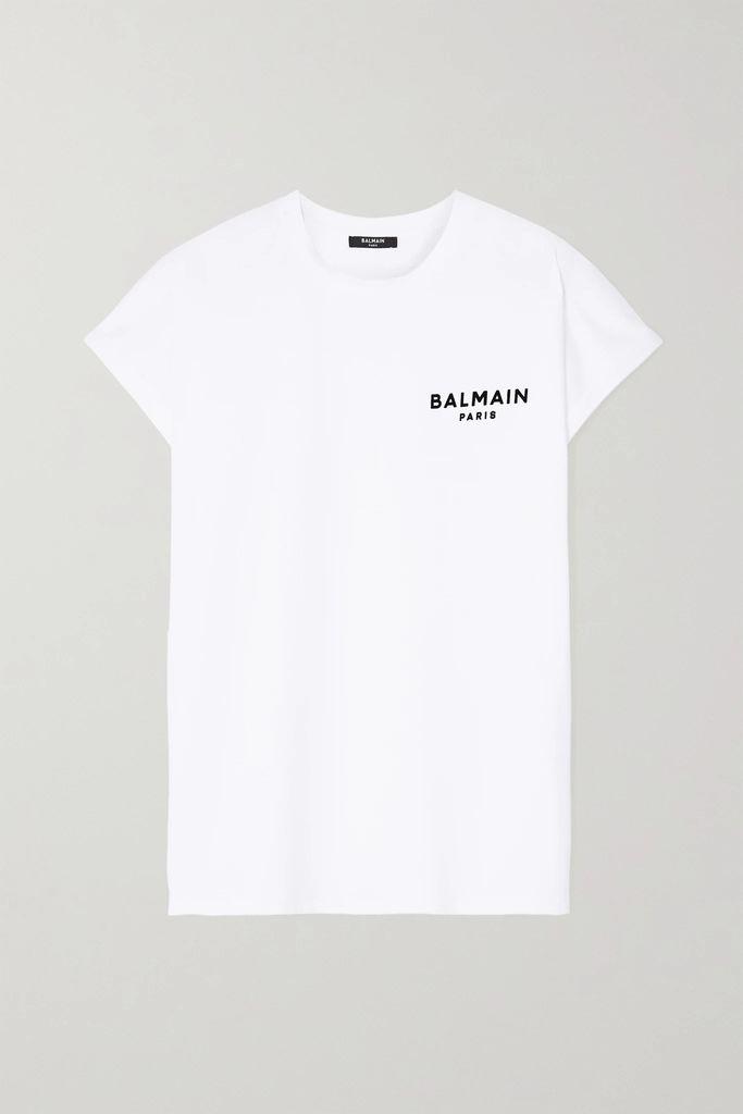 Balmain - Disco Studded Leather Shoulder Bag - White