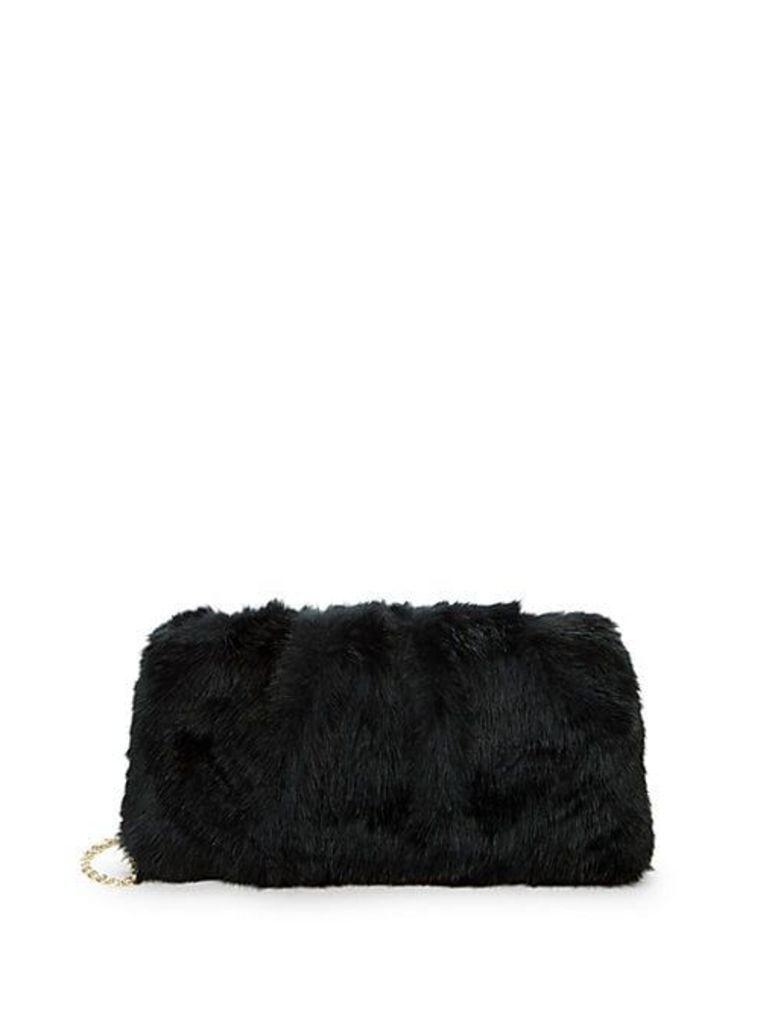 Faux Fur Chain Shoulder Bag